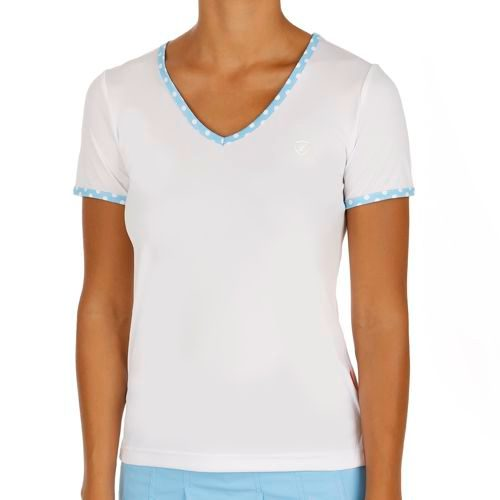 Limited Sports Performance Silvy Dots T-Shirt Women - White, Blue