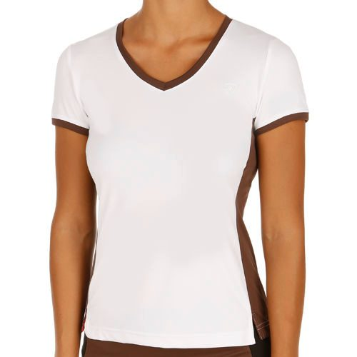 Limited Sports Performance Sunny Dots T-Shirt Women - White, Brown