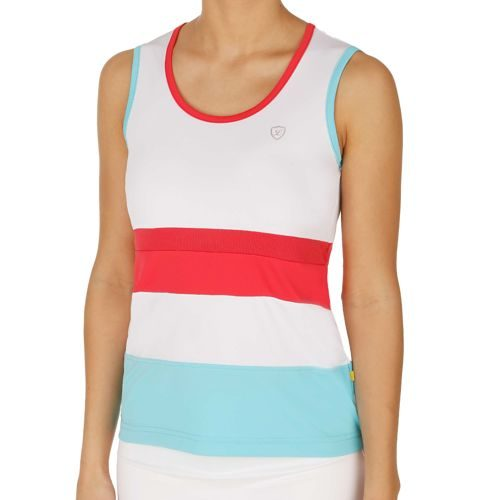 Limited Sports Performance Top Tolouse Top Women - White, Light Blue
