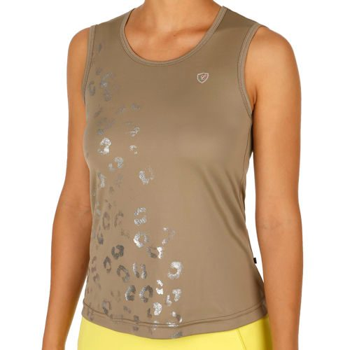 Limited Sports Performance Top White Leo Top Women - Dark Green, Silver