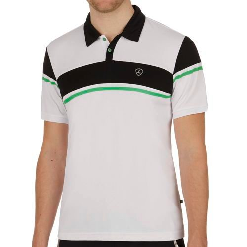 Limited Sports Performance Peer Polo Men - White, Dark Blue