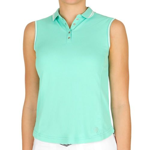 Limited Sports American Aurry Polo Women - Turquoise, White