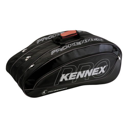 PROKENNEX Triple Thermo Bag Racket Bag - Black, Red