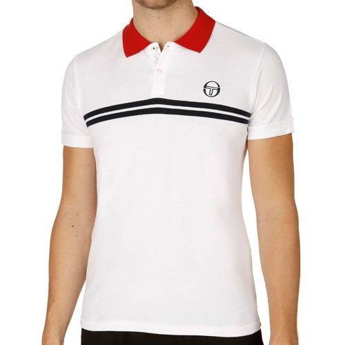 Sergio Tacchini Super Mac Polo Men - White, Dark Blue