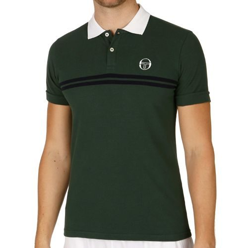 Sergio Tacchini Super Mac Polo Men - Green, White