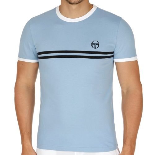 Sergio Tacchini Super Mac T-Shirt Men - Light Blue, White