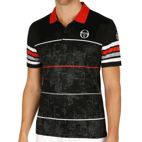 Sergio Tacchini Break Melbourne Polo Men - Black, Red