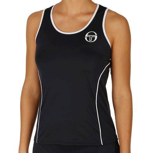 Sergio Tacchini Phoenix Tank Top Women - Dark Blue, White