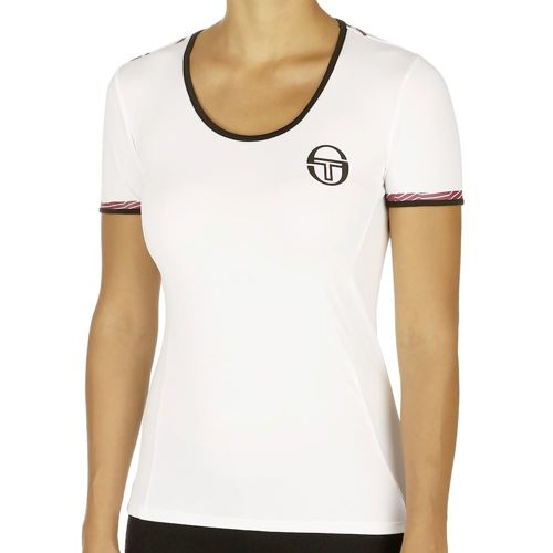 Sergio Tacchini Trace T-Shirt Women - White, Black