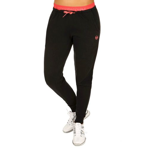Sergio Tacchini Elica Training Pants Women - Black, Coral