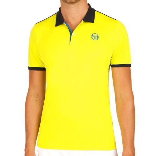 Sergio Tacchini Club Tech Polo Men - Light Green, Dark Blue