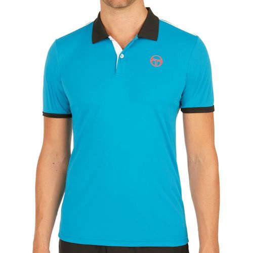 Sergio Tacchini Club Tech Polo Men - Light Blue, Orange
