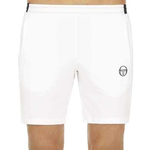 Sergio Tacchini Club Tech Shorts Men - White, Dark Blue