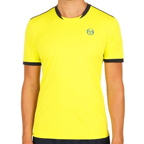 Sergio Tacchini Club Tech T-Shirt Men - Light Green, Dark Blue