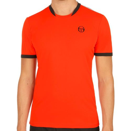 Sergio Tacchini Club Tech T-Shirt Men - Orange, Black