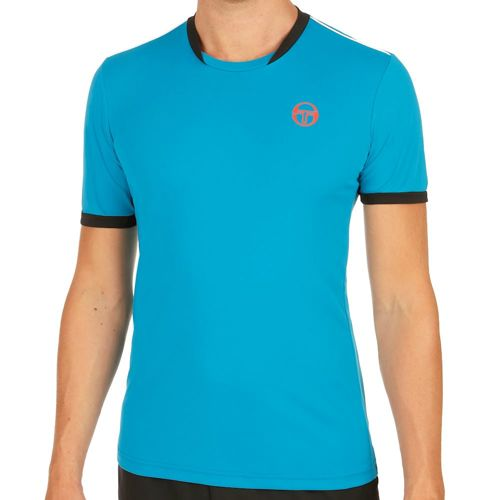 Sergio Tacchini Club Tech T-Shirt Men - Light Blue, Orange