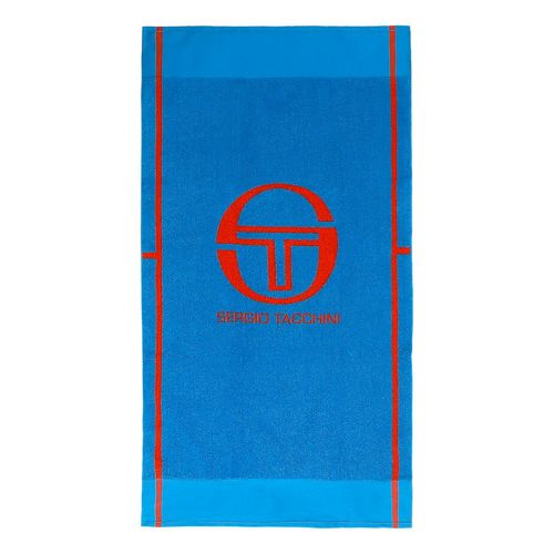 Sergio Tacchini Club Tech Towel 70x130cm - Light Blue, Orange