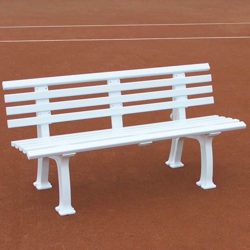 Tegra Tennis Bench 2m With Backrest - White