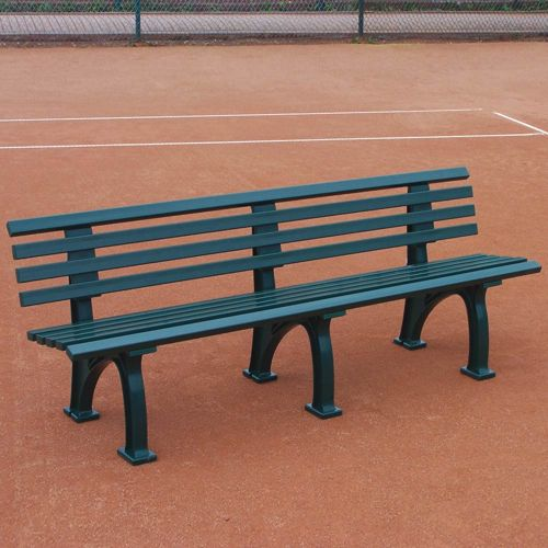 Tegra Tennis Bench With Backrest - Green