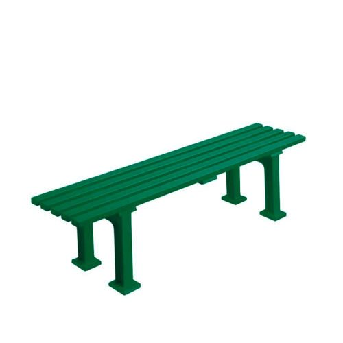 Tegra Tennis Bench 1,5m Without Armkrest - Green