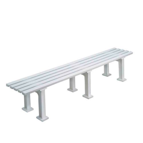 Tegra Tennis Bench 2m Without Armkrest - White
