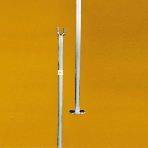Tegra Single Pole In A Double-pack, Aluminium - Silver