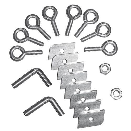 Tegra Screw Set For Tennis Posts - Silver