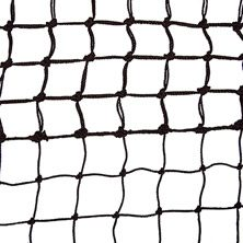 Tegra Top Spin Tennis Net 2,5mm With 5 Rows Of Double Mesh - Black