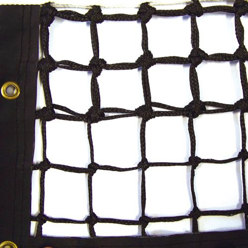 Tegra Grand Slam Tennis Net 3mm With 5 Rows Of Double Mesh - Black