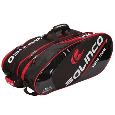 Solinco 12 Racquet Bag Racket Bag - Black, Red