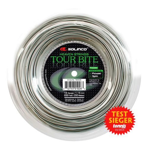 Solinco Tour Bite String Reel 200m - Silver