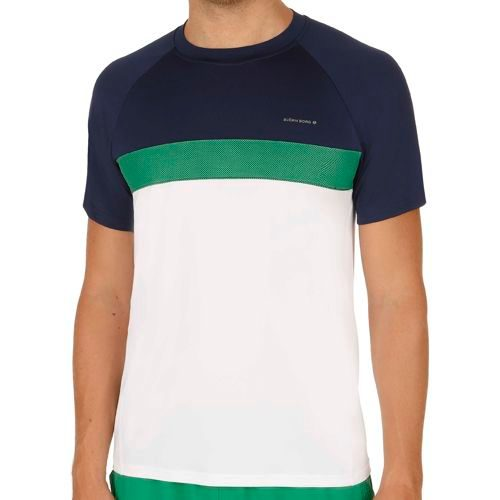 Björn Borg Performance Thorne T-Shirt Men - White, Dark Blue