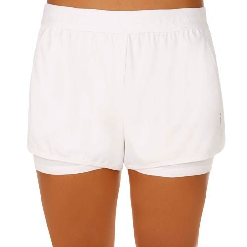 Björn Borg Performance Trilota 2-in-1 Shorts Women - White