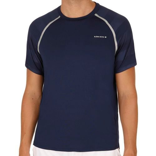 Björn Borg Tennis Travis Shortsleeve T-Shirt Men - Dark Blue, White