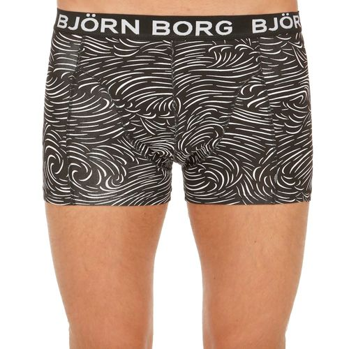 Björn Borg Japanese Wave Boxer Shorts Men - Black, White