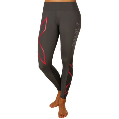 2XU Mid-Rise XForm Compression Pants Women - Grey, Pink