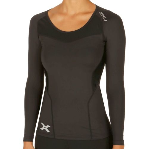 2XU Compression Long Sleeve Women - Black, Silver