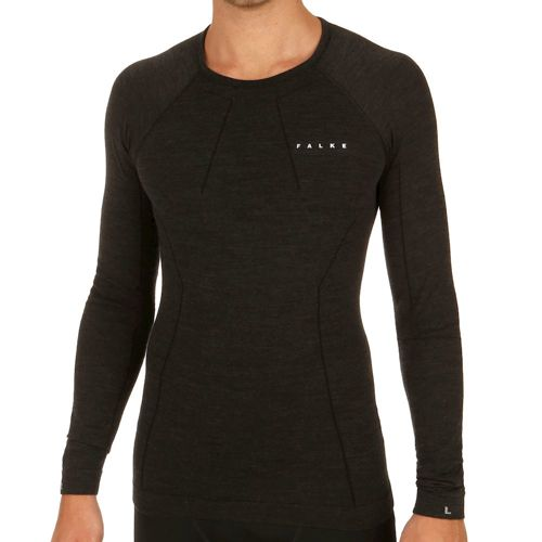 Falke Comfort Wool Tec Warm Long Sleeve Men - Black
