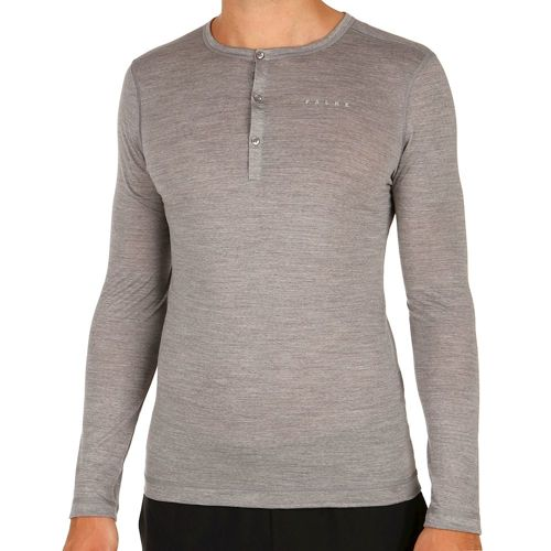 Falke Silk Wool Long Sleeve Men - Grey