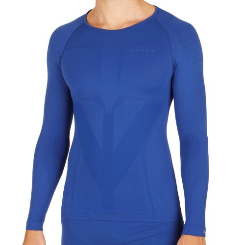 Falke Tight Fit Warm Long Sleeve Men - Blue