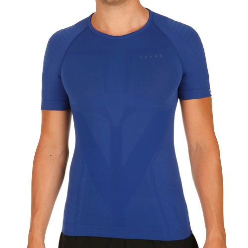 Falke Tight Fit Warm Short Sleeve Men - Dark Blue