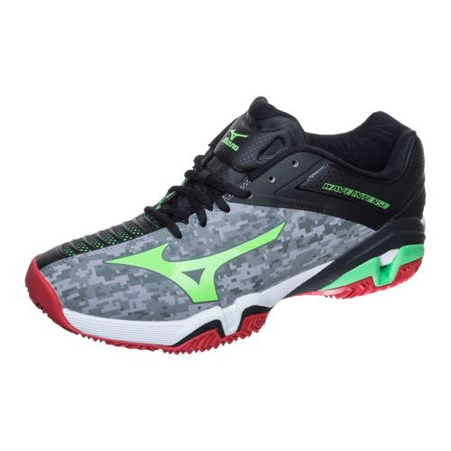 Mizuno Wave Intense Tour 2 CC Clay Clay Court Shoe Men - Grey, Green