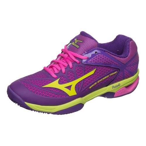 Mizuno Wave Exceed Tour 2 Clay Clay Court Shoe Women - Violet, Light Green
