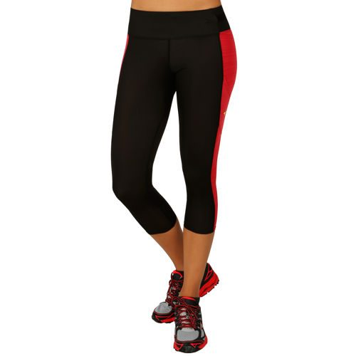 Mizuno Energy Active Capri Pants Women - Black, Lightred