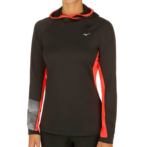 Mizuno Warmalite Phenix Hoody Women - Black, Coral