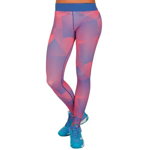 Mizuno Phenix Printed Leggings Women - Blue, Coral