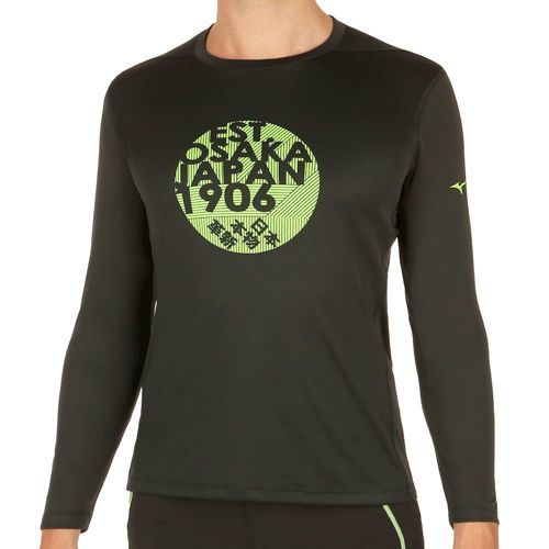 Mizuno Core Graphic Long Sleeve Men - Black