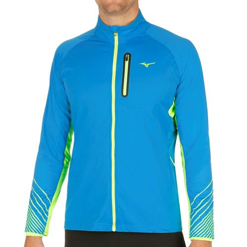 Mizuno Breath Thermo Softshell Running Jacket Men - Blue, Green