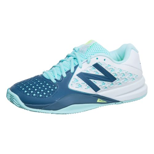 New Balance 996 V2 Clay Clay Court Shoe Women - White, Turquoise