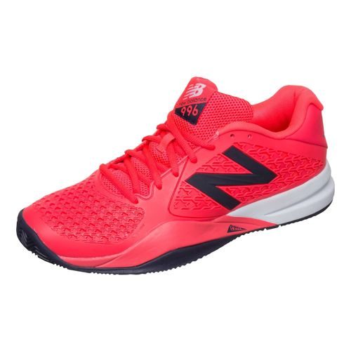 New Balance 996 V2 Clay Court Shoe Men - Neon Red, Black
